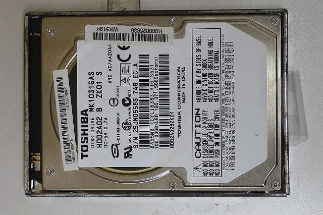 ノート用 ハードディスク HDD 100GB 現在正常に動いてます。